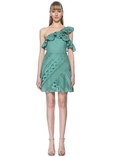 Floor Elbise Yeşil